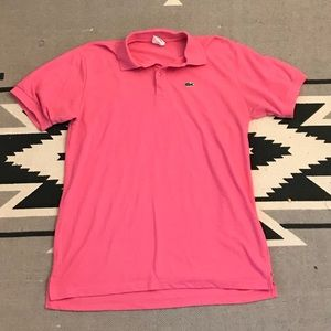 Hot Pink Lacoste Polo Shirt